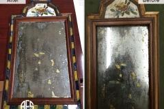 Antique-mirror-restoration-assembly-frame-gilding-leaf-silvering-glass-detail